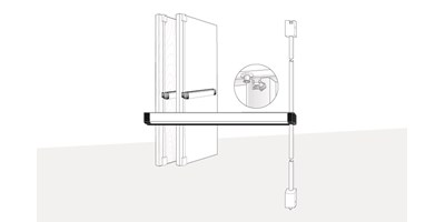 8100 Series (Life-Safety) | 3100 Series (Fire-Rated) Surface Vertical Rod Exit Devices