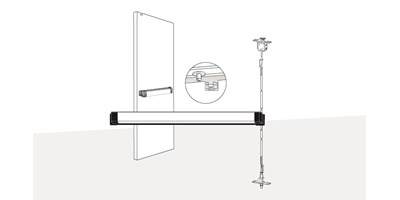 3600 Series (Fire-Rated), 8500 Series (Life-Safety) Concealed Vertical Rod Exit Device