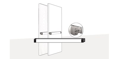 3700 Series (Fire-Rated), 8700 Series (Life-Safety) Rim Exit Device