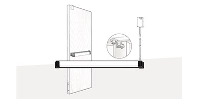 3900 Series (Fire-Rated), 8900 Series (Life-Safety) Concealed Vertical Rod Exit Device