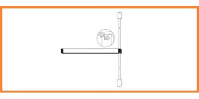 3100 Series (Fire-Rated), 8100 Series (Life-Safety) - Surface Vertical Rod Exit Devices