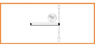 8200 Series (Life-Safety) Narrow Stile Surface Vertical Rod Exit Device