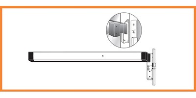 8400 Series (Life-Safety) Narrow Stile Mortise Exit Device