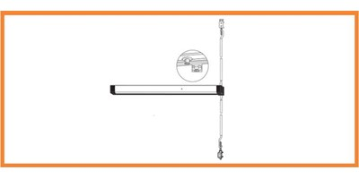 8600 Series (Life-Safety) - Narrow Stile Concealed Vertical Rod Exit Device